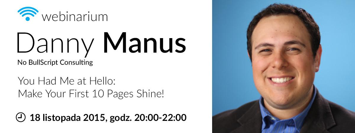 Danny Manus webinar